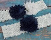 Dallas Cowboys Wedding Garter Set, Cowboys Garters Bridal Garter Set, White Lace Wedding Garter