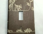 Bambi Deer Fabric Covered Single Light Switch Cover / Kid's Room / Baby Nursery Decor / Shower Gift / Gift For Baby / Disney / Thumper