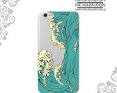 Great Wave off Kanagawa Ocean Soft Flexible iPhone Case Clear  iPhone 7,7Plus Case Galaxy S6 S7 Edge Note 4,5 iPhone 6 Plus Case UV0001