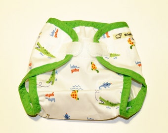 Cloth Diaper Cover - Later Gator PUL - Size Small