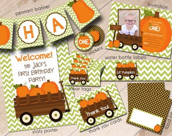 Our Little Pumpkin First Birthday Party Package