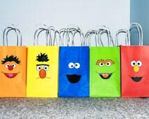 Sesame Street Loot Bags | Sesame Street Cutouts | Sesame Street Birthday Party - DIY Printable - Instant Download
