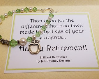 Teacher Retirement Gift Bracelet