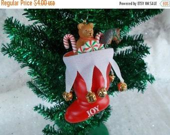 Vintage Schmid Christmas Stocking Tree Ornament