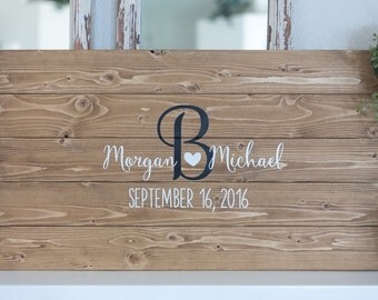 Wedding Guest Book Wood Sign, Wedding Decoration, Guest Book Alternative