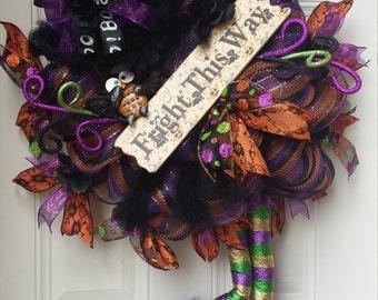 Halloween Witch Wreath XL
