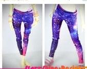 15% Off BJD MSD 1/4 Doll Clothing - Shimmer Galaxy Print Leggings
