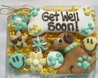 Get Well Soon Dog Treat Gift Set