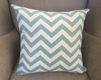 Cushion Cover/Pillow in Premier Prints Zig Zag Village Blue/Natural Fabric