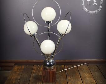 Vintage Mid Century Modern Saturn Orb Chrome Floor Lamp