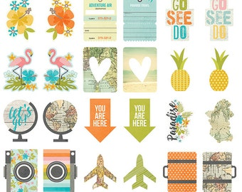 Simple Stories - You Are Here! - Pocket Pieces - 12 pieces - 6240