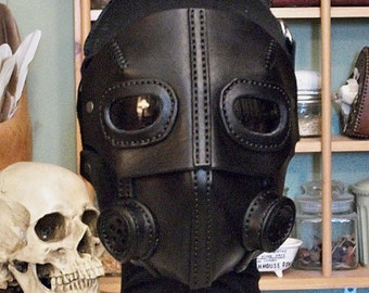 MADE TO ORDER  Leather Mask Dieselpunk Steampunk Aether Pirate 5 masks in 1
