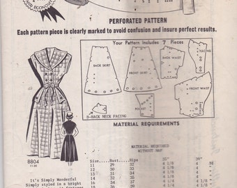 Sew Rite 8804 Mail Order Pattern Vintage Pattern Womens Dress Size 14 Bust 32 UNCUT