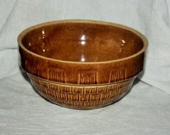Vintage McCoy 7 Inch Round Light Brown Bowl