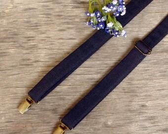 Navy Blue Suspenders  Wedding Suspenders  Men's Suspenders