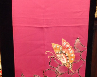 SF976 Hand painted Butterfly on Kimono silk