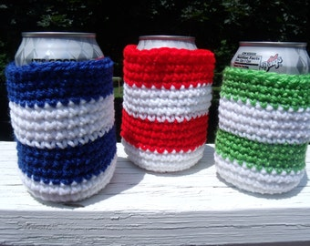Can Cozy  Can Cuff Can Holder Drink Cuff Drink Holder Green Can Cozy Red Can Cozy Blue Can Cozy Can Wrap Drink Wrap Drink Holder