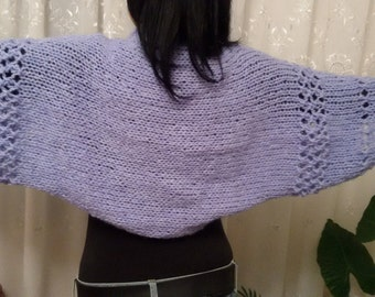 Knitted bolero, woven knitting sleeves, knitted jacket, women girls bolero