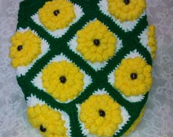 Crocheted Sunflower Totebag