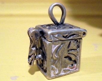 Sterling Silver Prayer Box Charm Pendant Locket