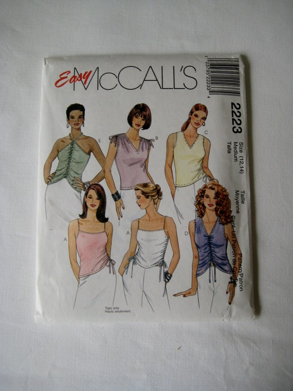 Stretch Knit Sewing Patterns : McCalls 2223 Sewing Pattern Stretch Knit Sleeveless Top