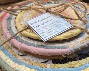 Cottage Garden Fabric Trivet Set - Made to Order