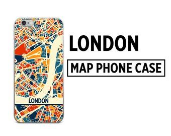 London Map Phone Case - London iPhone Case - iPhone 6 Case - iPhone 5 Case - iPhone 7 Case