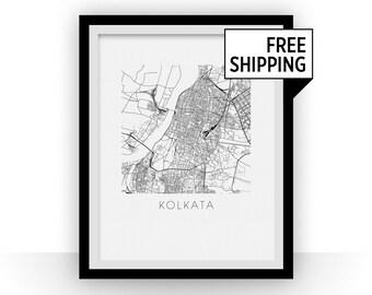 Kolkata Map Print