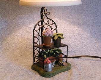 Accent Lamp - Gardening Theme