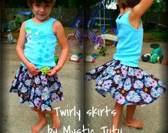 sugar skull Twirly skirt