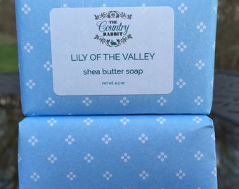 Shea Butter - Vegan Soap - Lily Soap - Floral Soap - Vegan Bar Soap - Spring Soap - Handmade soap - Vegan Lily Soap - LIly of the Valley