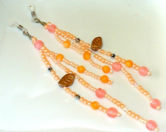 2 great glasses pendant Pink, orange 16 cm (500)