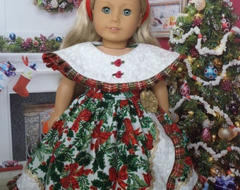 Christmas  Gown For Marie Grace or Cecile /  Handmade Clothes for 18'' Inch Doll