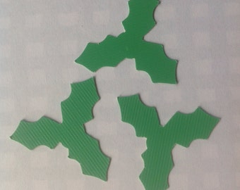 Die Cut Confetti Holly Leaves