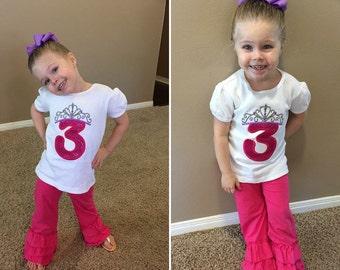 Princess birthday shirt, princess crown, princess