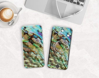 Abalone Shell Phone Case / Vinyl Skin for iPhone 6s , iPhone 6s Plus , iPhone 7 , iPhone 7 Plus , Galaxy S7