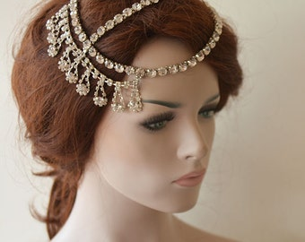 Wedding Hair Accessory, Bridal Head Chain, Wedding Headpiece, Wedding Hair Jewelry, Bridal Headband, Hair Accessories
