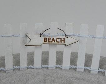 Beach Fairy Garden - Sign - Miniature Accessories, Terrarium Accessory, Beach wedding - Fairy Supplies - Miniature garden supply