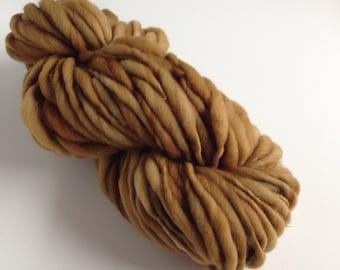 Handspun Thick and Thin Yarn, Merino, 50 yards, Mojave
