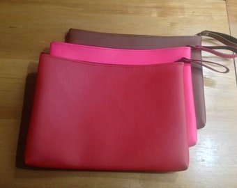Oversized Handmade Faux-Leather Clutch Bag (3 Colors!)