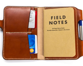PDF Digital Pattern - Field Notes Leather Travel Journal with Pen Lock