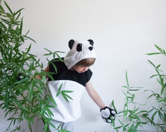 Panda Costume, Banda Bear Halloween Costume, Party Costume, For Boys or Girls, Toddler Costume