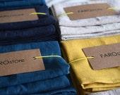 Servilletas de lino. Set de servilletas. Lino rústico