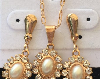 Beautiful Gold-filled 14k EARRING & NECKLACE Set