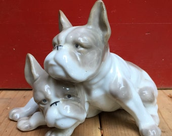 Porcelain French Bulldogs