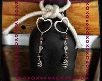 Heart drop earrings...