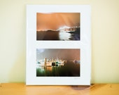 """Foggy Night Diptych - 4x6"""" Prints Matted to 8x10"""""""