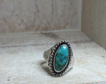 AMAZING TURQUOISE, sterling silver statement ring