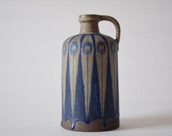 Vintage Danish - Thomas Toft - tall bottle vase - signed TT - collectible - Danish mid century pottery