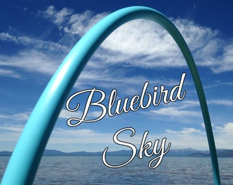 "Blue Bird Sky Colored 3/4' or 5/8"" PolyPro Hula Hoop - You pick the size - by Colorado Hula Hoops"